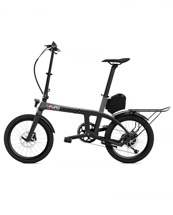 A full carbon, electric, folding bicycle which merges power, range, elegance and fun with extreme practicality