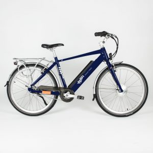 Emu Crossbar Electric Bike in Dark Navy Blue with Battery, 2020 Model