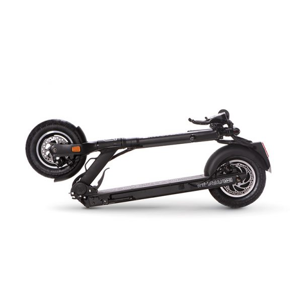 THE-URBAN xH1 scooter folded for storage