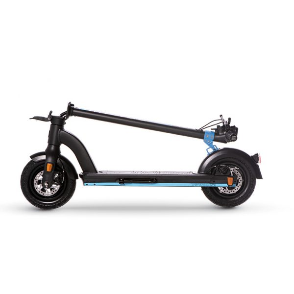 THE-URBAN xT1 scooter folded for storage