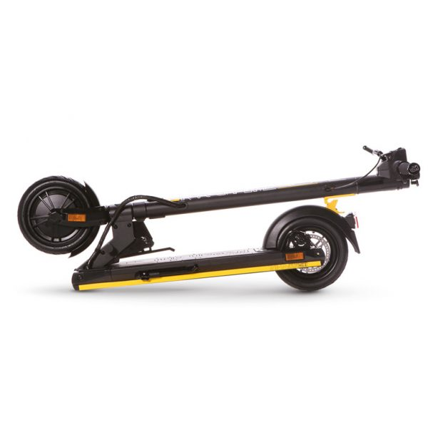 The Urban xC1 scooter folded for storage